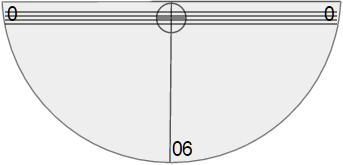 Simulated straw taped to a protractor