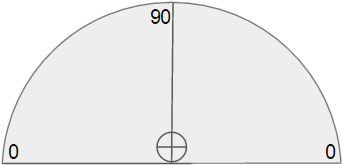 Simulated protractor
